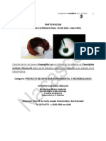 Caracterizacion hongo Aspergillus sp