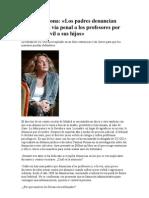 Carmen Perona Denuncias a Profesores