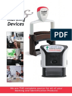 Trodat Standard Self Inking Stamp and Accessory Mini Catalog