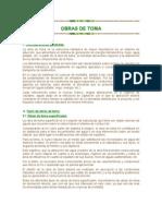 OBRAS DE TOMA