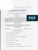 T Q M - 5 Yrs Univ Question Papers(Up-to 2011)