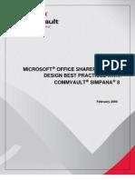 Share Point Best Practices Simpana8 FEB09