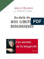 Au-Dela de Nos Limites Biologiques - Miroslav Radman