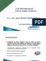 2 Taller de Pagos Provision Ales ISR MI Jesus Ramon Ojeda Verdugo