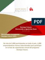 Presentación de la Fundación Bavaria y el Programa Destapa Futuro