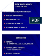 High Risk Pregnancy - PHC LEVEL