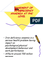 Management of Iron Deficiency Anaemia at Phc Level
