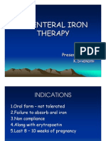 Parenteral Iron Therapy