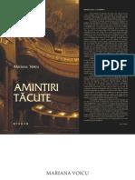 """Voicu Mariana, Amintiri tăcute, Teatrul Naţional Mihai Eminescu"""" Timişoara 1945-2005"""