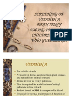 Screening of Vitamin a Deficiency Among Preschool Children Using Who Guidelines