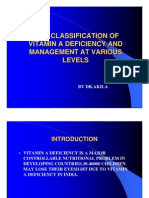 Who Classification of Vitamin a Deficiency and Management