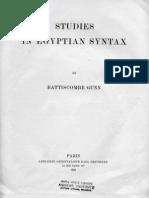 Gunn Egyptian Syntax 1924