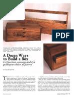 A Dozen Ways to Build a Box
