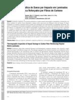 Inspeção termográfica de danod por impacto em laminados de matris polimérica reforçados por fibras de carbono