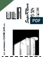 Dacia SupeRNova (10-2000) - Catalog Piese Schimb (PS524)