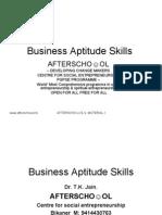 Business Aptitude Skills 27 Sept III