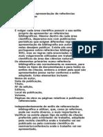 Normas para a apresentação de referências bibliográfica1
