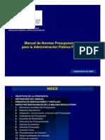 Manual de Normas Presupuestarias para la Administración Pública Federal
