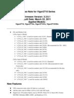 Vigor2710 V3.3.6.1 Release Note