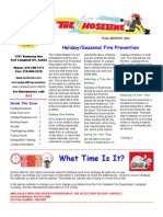 Fort Campbell Fire Prevention Newsletter Fall-Holiday Edition 2011