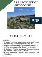 Uvod u Prapovijesnu Arheologiju 1