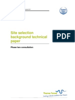 Site Selection Background Technical Paper