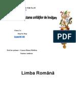 Planificarea Unitati de Invatare Cls.1 - Copy