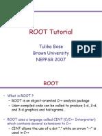 ROOT Tutorial Bose