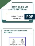 CINEMÁTICA DE UM PONTO MATERIAL