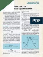 Spectrum Analysis Noise Figure Measurement