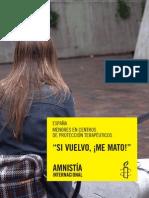 Informe Menores en Centros Amnistia Internacional