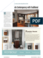 """""""Showpiece Blends Contemporary with Traditional""""  Transitional Kitchen Design"""