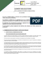 Reglement des élections