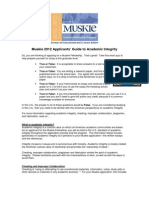 Academic Integrity Handout 2012