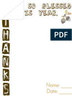 Thanks 2011 Printable