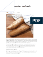 Receta de baguette o pan francés
