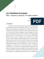 LOS ITINERARIOS DE DIONISO