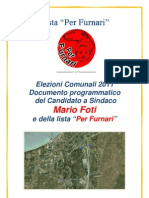 """ELEZIONI 2011 PROGRAMMA LISTA """"PER FURNARi"""""""