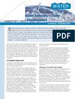 The Private Water Industry's Stake in Shale Gas Development