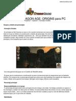 Guia Dragon Age Origins Pc