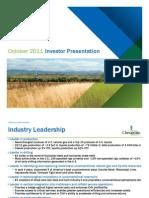 Chesapeake Investor Presentation October 2011