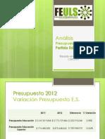 FEULS - Análisis Presupuesto 2012