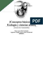 Conceptos básicos de Ecología y ciencias afines