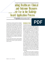 Understanding Healthcare Clinical Process and Outcome Measures and Their Use in the Baldrige Award Application Process