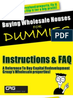 Buying Wholesale Properties for Dummies - By Jeff Coga