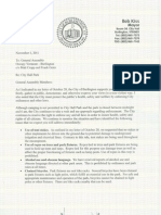 Second letter from Burlington Mayor Bob Kiss to the general assembly of the Occupy Burlington