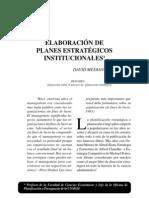 Lectura Sobre Planes Estrategicos