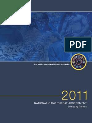 2011 11 2 FBI Gang Threat Assessment   Gang   Violent Crime