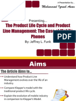Presentation on the Product Life Cycle and Product Line Management the Case of Mobile Phones