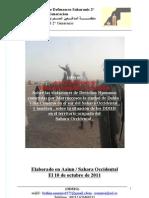 Informe de la Organizacion de Defensores Saharauis 2° Generacion Sobre las violaciones de Derechos Humanos en la ciudad de Dajla